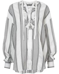 TOME - Striped Blouse - Lyst