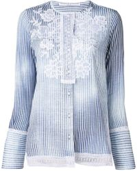 Ermanno Scervino - Embroidered Striped Shirt - Lyst