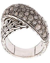 John Hardy - Classic Chain Overlap Diamond Ring - Lyst