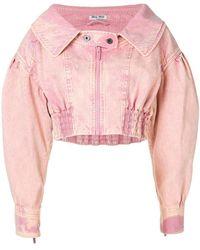 Miu Miu - Cropped Jacket - Lyst