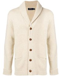 Polo Ralph Lauren - Chunky Knitted Cardigan - Lyst