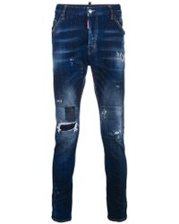 DSquared² - Slim-fit Distressed Jeans - Lyst