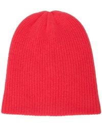 81211a305856e Lyst - The Elder Statesman Speckled Ribbed Cashmere Beanie in Gray ...