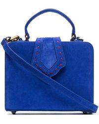 Mehry Mu - Blue Fey Small Suede Shoulder Bag - Lyst