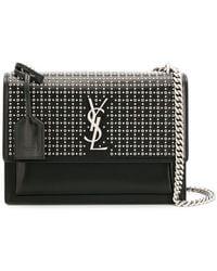 8750eb947516 Saint Laurent Monogramme Candy Bag in Black - Lyst