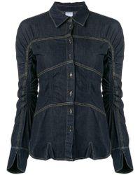 Carven - Longsleeved Denim Shirt - Lyst