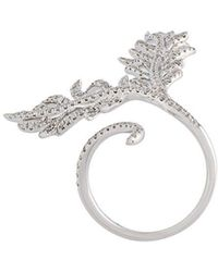 Elise Dray - Diamond Leaf Ring - Lyst
