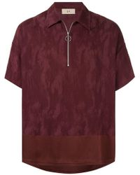 Loveless - Zip Jacquard Polo Shirt - Lyst