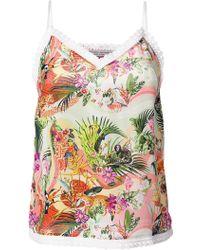 Piccione.piccione - Tropical Print Cami Top - Lyst