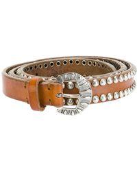 Golden Goose Deluxe Brand - Studded Buckled Belt - Lyst