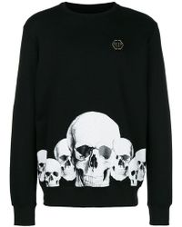 Philipp Plein - Skull Print Sweatshirt - Lyst