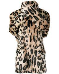 Junya Watanabe - Leopard Print Wrap Coat - Lyst