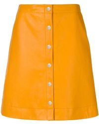 PS by Paul Smith - Button-down A-line Skirt - Lyst
