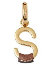 Burberry - Leather-wrapped 's' Alphabet Charm - Lyst