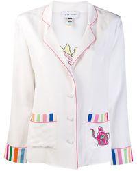 Mira Mikati Striped Trim Shirt