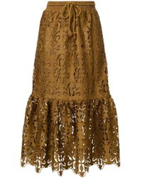 See By Chloé - Ruffled Lace Skirt - Lyst