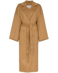 Loewe - Oversized Belted Wool Cashmere-blend Coat - Lyst