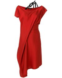 Ann Demeulemeester - Strap Detail Shift Dress - Lyst