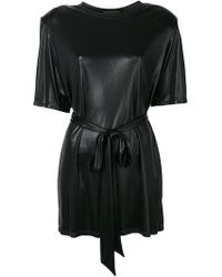 Alexandre Vauthier - Loose Fit Belted Blouse - Lyst