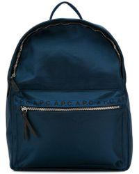 A.P.C. - Marc Logo Print Backpack - Lyst