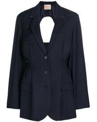Erika Cavallini Semi Couture - Cinched Waist Jacket - Lyst