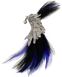 Lanvin - Jewelled Feather Brooch - Lyst