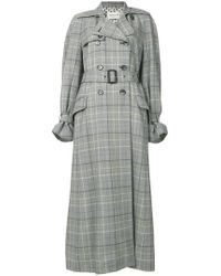 Etro - Checked Printed Coat - Lyst