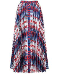 9d86841f0 MSGM - Printed Button-down Skirt - Lyst