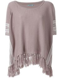 Guild Prime - - Fringed Hem Jumper - Women - Cotton/linen/flax - One Size - Lyst