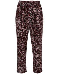 Chinti & Parker - Mini Heart Print Cropped Trousers - Lyst