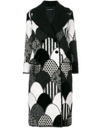 Dolce & Gabbana - Patchwork Coat - Lyst