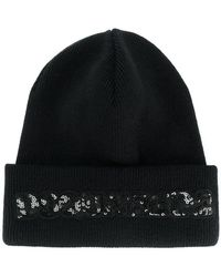 DSquared² - Sequinned Logo Beanie - Lyst