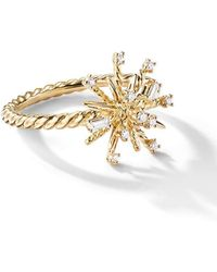 David Yurman - 18kt Yellow Gold Supernova Diamond 14mm Ring - Lyst