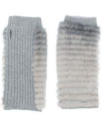 Agnona - Fingerless Gloves - Lyst