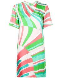 Emilio Pucci - Shell Print Silk Mini Dress - Lyst
