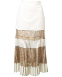 Dion Lee - Pleated Mid-length Skirt - Lyst