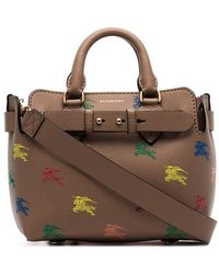 4caee27ff1 Lyst - Lauren by Ralph Lauren Equestrian-print Classic Tote in Brown
