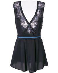 La Perla - Lace Design Camisole Dress - Lyst