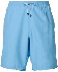 BOSS - Brand Embossed Swimming Trunks - Lyst