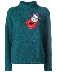Boutique Moschino - Patch Knit Jumper - Lyst