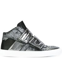 MM6 by Maison Martin Margiela - Panelled Hi-top Sneakers - Lyst
