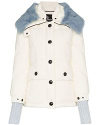 Moncler Grenoble - Carezza Shearling Collar Padded Jacket - Lyst