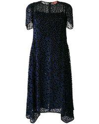 Max Mara Studio - Patterned Asymmetric Dress - Lyst