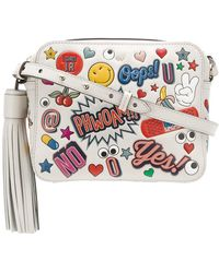anya hindmarch all over stickers leather crossbody shoulder bag lyst