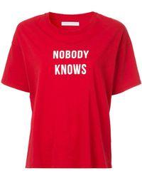 Nobody Denim - Nobody Knows Slogan T-shirt - Lyst