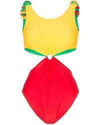 d2dfa00b1778 Paper London - Costume Barbuda intero con dettaglio cutout - Lyst