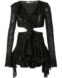 Roberto Cavalli - Cut Out Bell Sleeved Top - Lyst