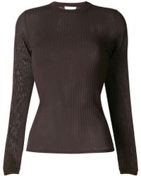 WOOD WOOD - Ribbed Round Neck Jumper - Lyst