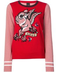 Pinko - Flying Pig Knitted Sweater - Lyst