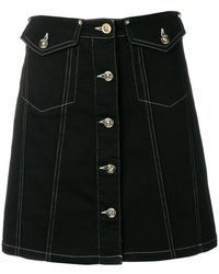 Versace Jeans - Buttoned A-line Skirt - Lyst